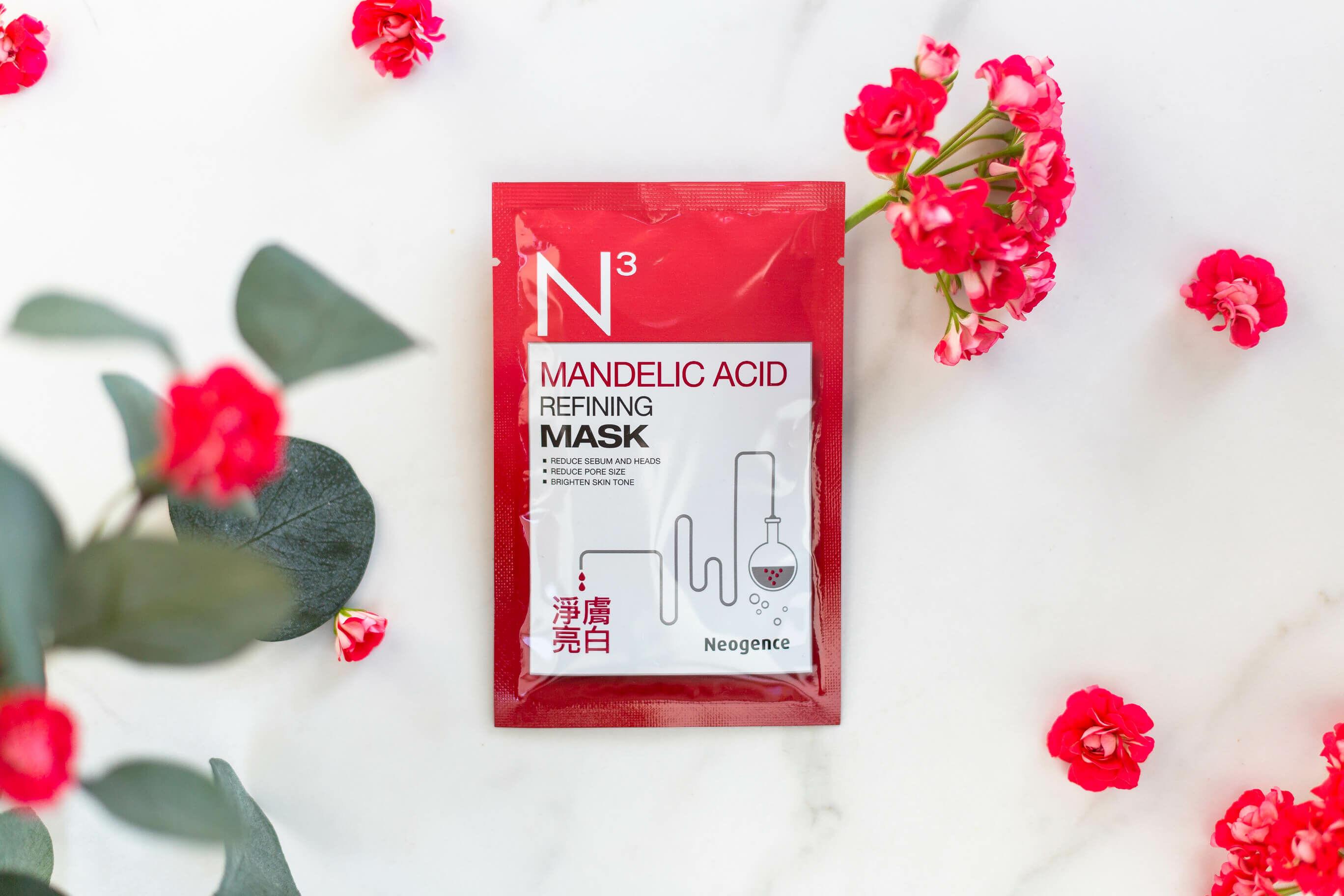 N3 fátyolmaszk problémás bőrre és tág pórusok ellen mandulasavval