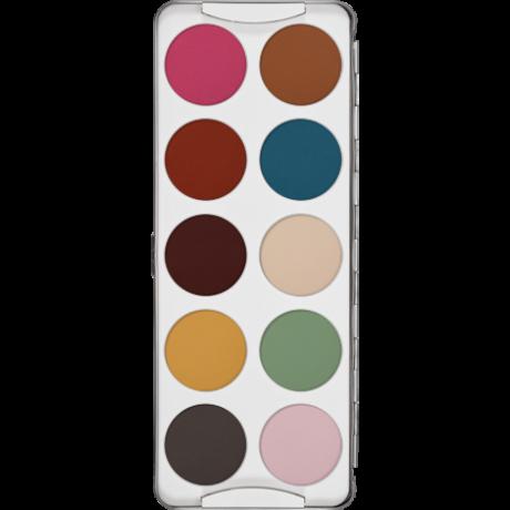Kryolan paletta betét műanyag 10-es (szemhéjpúder/arcpír)