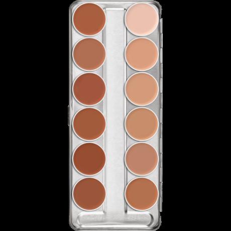 Kryolan Supracolor krémes alapozó Paletta (1W-12W) színnel 40ml