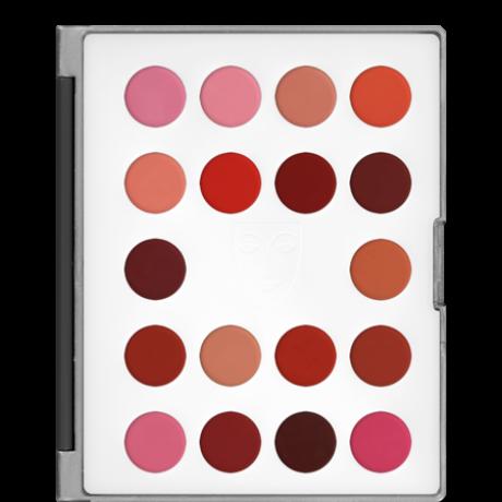 Kryolan Lip Rouge Classic Mini Palette 18 színű rúzs minipaletta (LC)