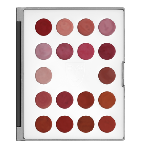 Kryolan Lip Rouge Classic Mini Palette 18 színű rúzs minipaletta (LCP)