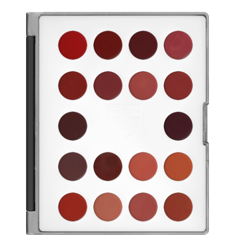 Kryolan Lip Rouge Classic Mini Palette 18 színű rúzs minipaletta (LF)