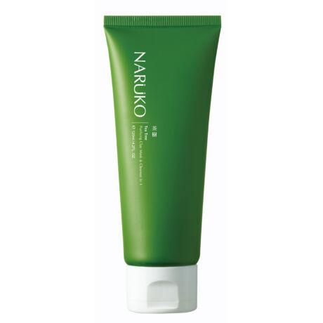 NARÜKO mélytisztító fehér agyag maszk és arclemosó 2 az 1-ben teafa olajjal problémás bőrre 120ml