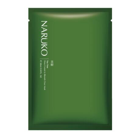 NARÜKO bőrnyugtató fátyolmaszk teafa olajjal problémás bőrre (1 tasak - 26ml)