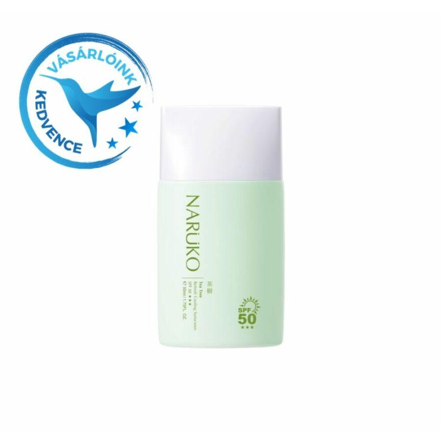 NARÜKO hűsítő fényvédő teafa olajjal problémás bőrre 50ml