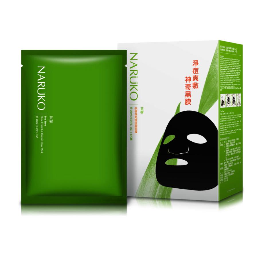 NARÜKO bőrnyugtató fátyolmaszk teafa olajjal problémás bőrre (1 doboz - 8x26ml)